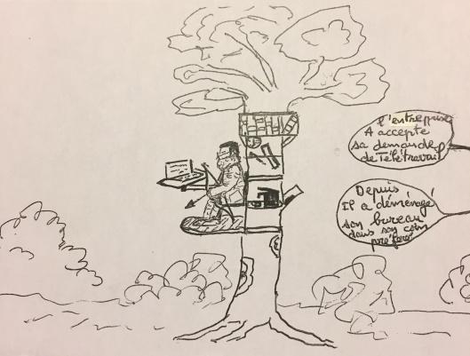 dessin Alain teletravail