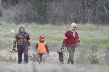 Vincent Fleuriot et Pierre Fisse et son fils - Chambord - Lièvres - Nov 2017